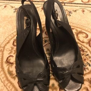 Alfani black heels.